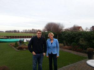 Greet Generaal met Cees Bood die net lid is geworden van de PvdA...